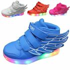 Kid Boy Girl USB Charge LED Light Up Sneakers sport Shoes Dance children