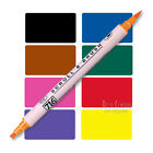 Scroll and Brush pen, scroll calligraphy tip + brush tip, choice of colours, Zig