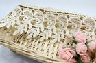 FP64A 1 Yard Beige Floral Polyester Lace Applique Sewing Trim DIY Craft Trimming