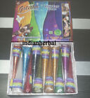 12 Pack Golecha Hot Bollywood Glitter Sparkle Henna Gel Cone