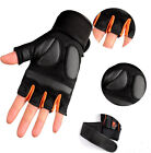 Breathabe Non-slip Exercise Training Weight Lifting Gloves With Long Wrist Strap