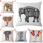 Colorful Bohemian Elephant Cotton Linen Pillowcase Sofa Cushion Cover Home Decor