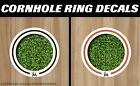Miami Marlins White Cornhole Ring Bag Toss Cast Vinyl HD Hole Decals
