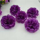 50X 100X Carnations Artificial Silk Flowers Heads Party Wedding Floral Decor NEW