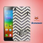 Zig Zag Love Heart Art Pattern Watercolor Case Cover for Lenovo