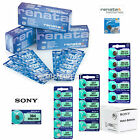 Genuine Sony & Renata Silver Oxide Watch Batteries [ALL SIZES] 0% Mercury