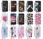 Beautiful Hang Rope Magnetic PU Leather Stand Card Wallet Flip Case For Samsung
