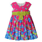 New Girls Toddlers Charming 100% Cotton Cute Bow  Blet Dress 2-6T D653
