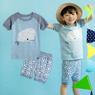 "Vaenait Baby Infant Kids Boy Short Pajama set Outfit Clothes ""Sky Whale"" 2T-5T"