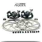 Tektro Aquila MTB Bicycle Bike Mechanical 160mm Front & Rear Rotors Disc Brakes