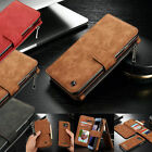 For Samsung Galaxy S7 Edge/S7 Genuine Leather Case Wallet Zipper Card Flip Cover