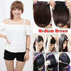 Straight Front Bangs Fringe Piece Clip In Hair Extensions Remy style Real NCW