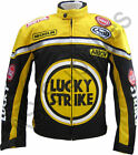 LUCKY STRIKE Cordura Textile Biker Motorcycle Jacket - Black/Yellow - All sizes!