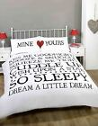 """Rapport """"Mine And Yours"""" White/Black/ Red Duvet Set Double Or King"""