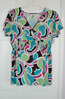 New PLUS Size Duo Maternity V-Neck Flowing Top /Blouse *Unique & Colorful* 2X 3X