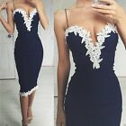 Sexy Women's Summer Bandage Bodycon Lace Evening Party Cocktail Short Mini Dress