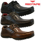 MENS RED TAPE LEATHER CASUAL LACE MOCCASIN WALKING TRAINERS DRIVING SHOES SIZE