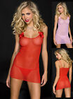 Soft Mesh Chemise with Rose Accents & String Thong Queen Plus Size 6972Q