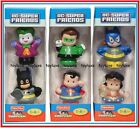 LITTLE PEOPLE DC SUPER FRIENDS DOLLS BATMAN JOKER SUPERMAN BATGIRL WONDER WOMAN