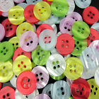 """120/300 5/8"""" 15mm Mixed Shining 4Holes Resin Sewing Buttons Garment Accessories"""