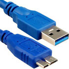 USB 3.0 Super Speed Type A Male to B Micro Sync Data HDD Hard Disk Cable Lead