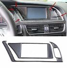 Carbon Fiber Car Console Navigation/Warning lamp Decal Cover Trim For Audi A4 B8