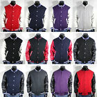 Mens New Varsity Letterman Faux LEATHER Baseball Jacket XS,S,M,L,XL,2XL,3XL,4XL