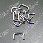 SEPTUM RETAINER 1.2mm 1.6mm 14g 16g CLEAR ACRYLIC OR SURGICAL STEEL  Retainers & Hide-its - 98542
