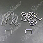 SEPTUM RETAINER 1.2mm 1.6mm 14g 16g CLEAR ACRYLIC OR SURGICAL STEEL