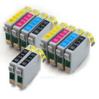 E-711 E-712 E-713 E-714 2 sets Compatible Ink Cartridges with 2 Extra Blacks