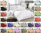 800 TC 1000 TC 100% Egyptian Cotton UK Sizes Hotel Quality Branded Solid Bedding