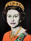 Andy Warhol Queen Elizabeth II print canvas 8x12 & 12x17