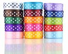 50 Metres Roll - 10mm Spotty POLKA DOT SATIN Ribbon in Different 10 colors