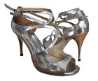 HenryG Glossy Silver Womens Tango Dance Shoes, Stiletto Heel - HGB-5706S