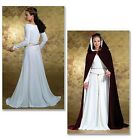 PATTERN BUTTERICK Dress Laces Up Back with Train Cape 6 to 20 4377 Victorian