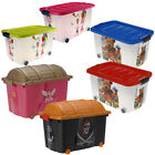 CHILDRENS STORAGE TOY CHEST BOX BEDROOM LAUNDRY GIRL BOY PIRATE PRINCESS TEDDY