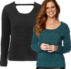 Women's Fluffy Jumper in UK Sizes 6 - PLus Size 28 Long Sleeved Green or Black