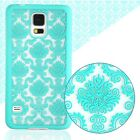 Carved Damask Hollow Vintage Pattern Hard PC Case Cover For Samsung Galaxy UK