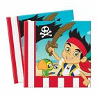 PACK OF 20 JAKE AND THE NEVERLAND PIRATE NAPKINS BIRTHDAY PARTY DISNEY