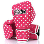 New Fairtex Muay Thai Boxing Gloves Pink Polka Dot Synthetic Leather Microfiber