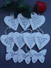 Special gift hanging quote porcelain heart freinds love wedding butterfly braver