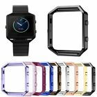 Stainless Steel Watch Holder Metal Casing Frame Case Cover For Fitbit Blaze #BS