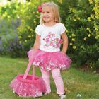 Mud Pie Easter Bunny Tutu Skirt Set- Matching Easter Basket Sold Separately