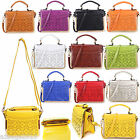 Ladies Small Faux Leather Satchel Tote Messenger & Cross Body Shoulder handbag