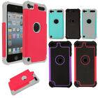 For Apple iPod Touch 5 5th/ 6 6th Gen Hybrid Silicone Hard Rubber Cover Case