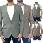 Mens Marc Darcy Blazer Waistcoat Soft Touch Poly Tailored Fit Jacket Coat Suit