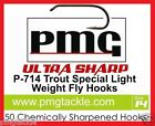 50 PMG. P-714 ULTRA SHARP Special Light  Weight Fly-Hooks