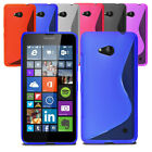 Slim Soft Wave Gel Case Soft Phone Back Cover For Microsoft Lumia 550 & Screen