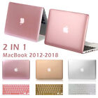 Metallic Rubberized Hard Case Keyboard Cover fo Macbook Pro 13 15 Air 13 11 Inch