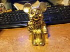 MICKEY MOUSE METAL  BANK SITTING ON SUITCASE / REAL PICS / WRONGWAY052